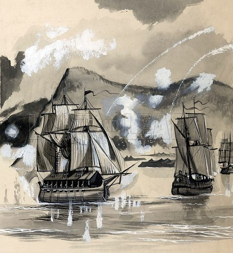 In 1704, under Sir George Rooke, the Marines took part in the attack on Gibraltar which ousted the Spaniards.