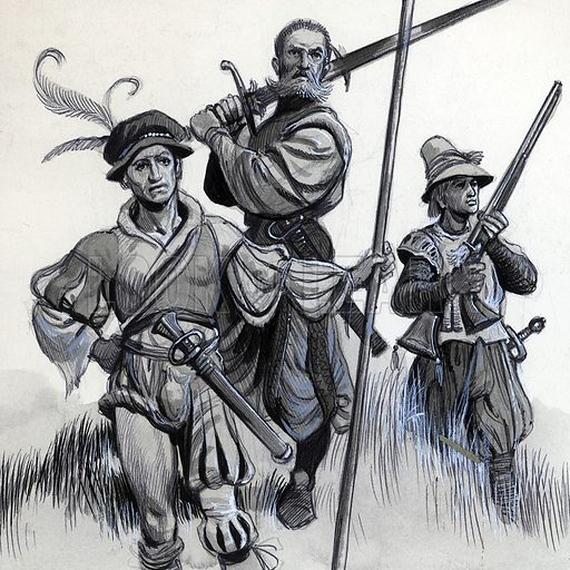 Mercenary soldiers of the early 14th century.