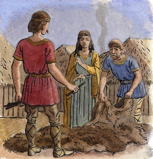 Barter. The British traded for centuries without money, even after the Roman invasion.
