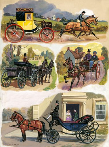 Carriages over the ages.