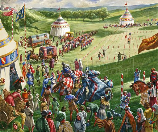 Mediaeval tournament, picture, image, illustration