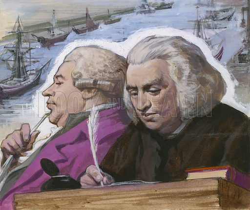 Dr Johnson and Boswell on their trip to the Western Isles.