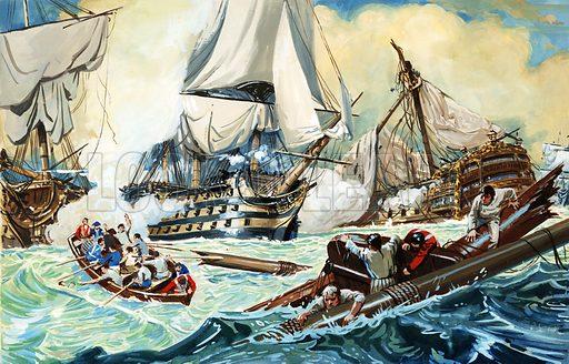 The battle of Trafalgar.