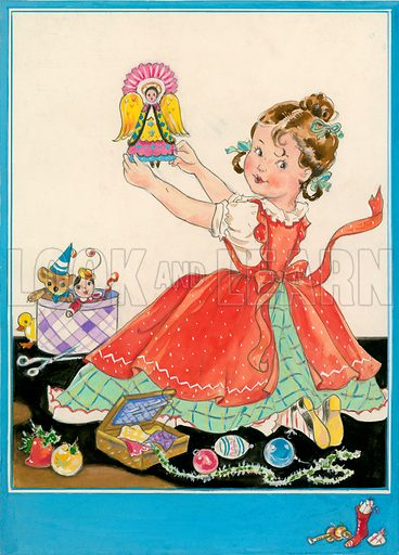 Girl with Christmas fairy.