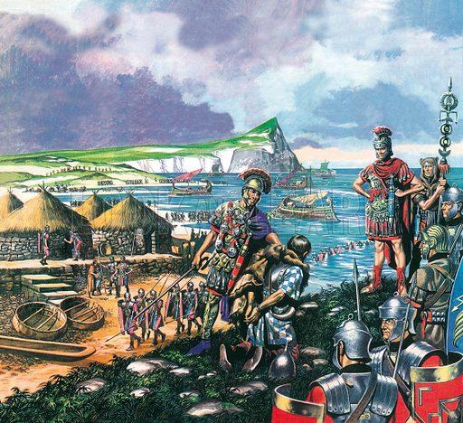 Julius Caesar arrives in Britain