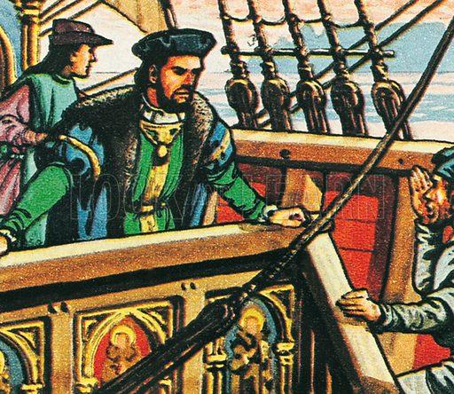 Vasco da Gama. Professionally re-touched illustration.