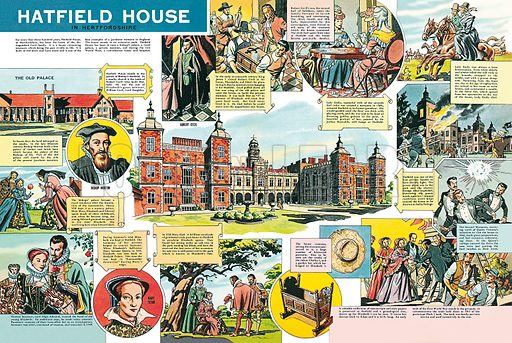 Hatfield House in Hertfordshire. Professionally re-touched illustration.