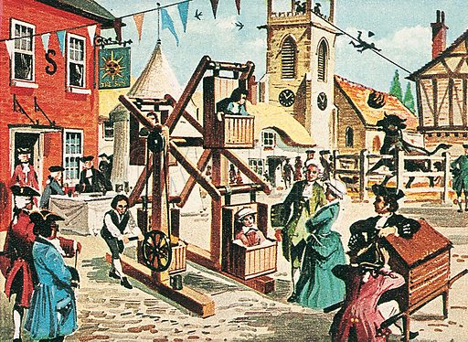 """18th century """"Big Wheel"""". Professionally re-touched illustration."""