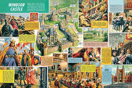 Windsor Castle, picture, image, illustration