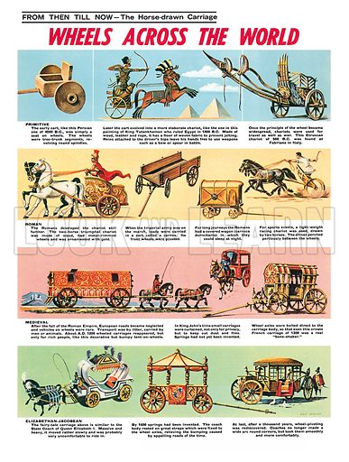 The Horse-Drawn Carriage. Professionally re-touched illustration.