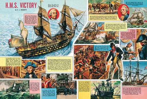 HMS Victory. Professionally re-touched illustration.