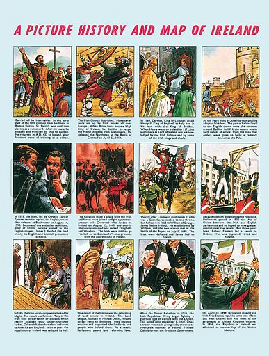 Picture History of Ireland. Professionally re-touched illustration.