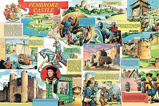 Pembroke Castle, picture, image, illustration