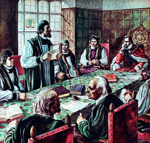 Hampton Court Conference, London, 1604. The conference called for by King James I of England in 1604 to settle the religious differences of his people was almost a complete failure. But one great decision resulted – to make a new translation of the Bible into English – known as the Authorized or King James' version.