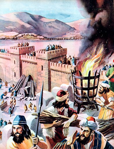 Holofernes's Army. The huge host of Holofernes's army had surrounded the hill city of Bethulia. In haste the terrified Israelites prepared for the attack.
