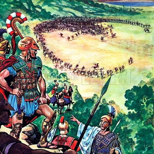Pincer Movement, as saved the Greeks at the battle of Marathon, in which 6,400 Persians died, against only 192 Greeks.