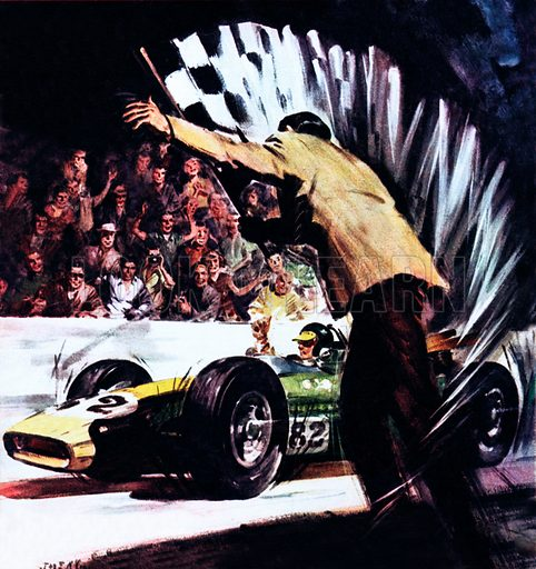 Clark wins the Indy, picture, image, illustration