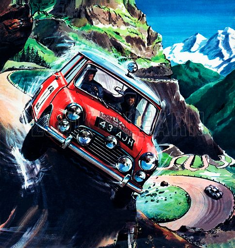 Monte Carlo rally, picture, image, illustration