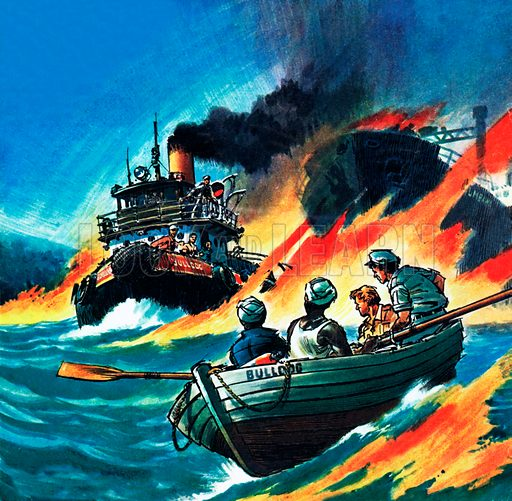 Rescue of the Burning Sea!.
