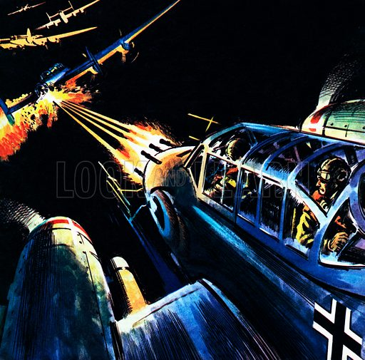 Bombers over Germany, picture, image, illustration