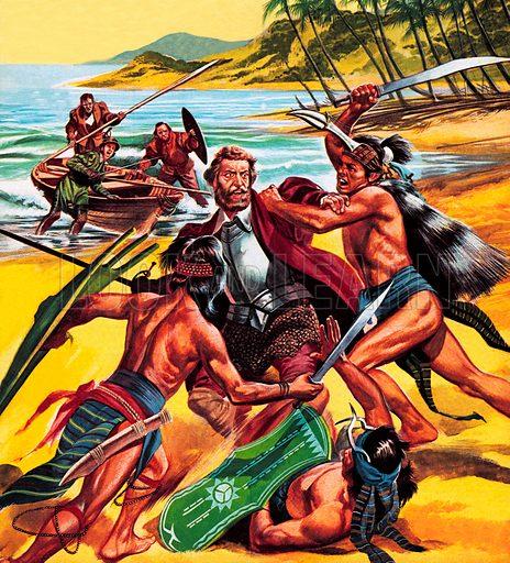 Death of Ferdinand Magellan.