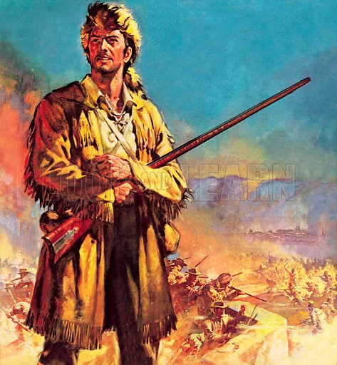 Davy Crockett, hero of the Siege of the Alamo, Texas, 1836