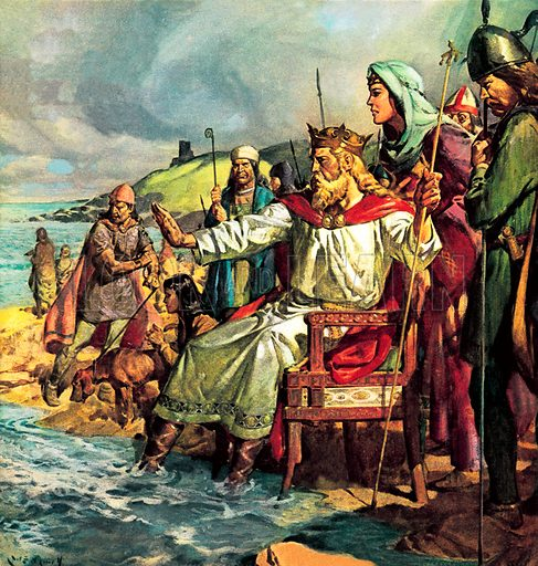 King Canute attempting to defy the tide.