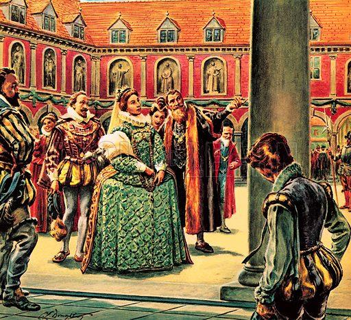 Queen Elizabeth I visits the Royal Exchange.