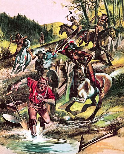 """Fight for the Wild West: The Redman Goes to War. """"For a long time the Indians watched patiently as the white settlers poured over their lands. Finally they could stand no more…""""."""