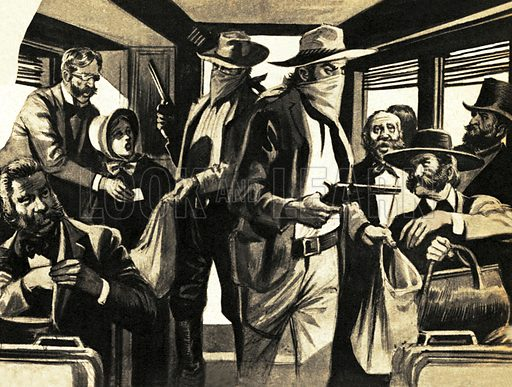 The Fight for the Wild West: The Great Train Robbers. Gangs like the James' riders terrorized settlers so much that they avoided the Missouri altogether.