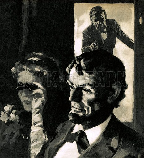 The Assassination of Abraham Lincoln,  picture, image, illustration