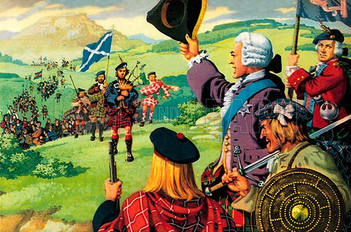 """The Lost Cause of Bonnie Prince Charlie. """"From all over Scotland the clansmen flocked to his banner. Within months many of them lay dead – their leader hunted like a fox by the English redcoats.""""."""