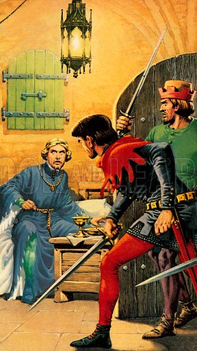 "Richard II at Pontefract Castle. ""According to William Shakespeare, one dark night in 1400 Richard II of England was brutally murdered in Pontefract Castle.""."
