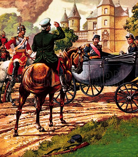Bismarck and Napoleon III, picture, image, illustration