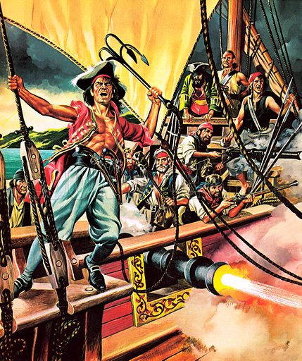 Pirates. Blackbeard, Henry Morgan, Captain Kidd… these were some of the famous pirates who sailed under the Jolly Roger flag.