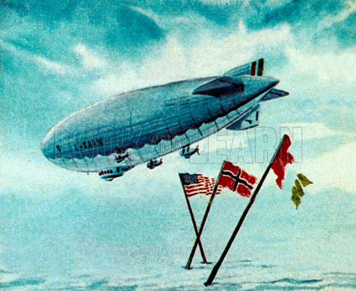 The Norge Airship. NB: Scan of small illustration.