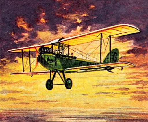 """Amy Johnson in her Gypsy MOth called """"Jason"""". NB: Scan of small illustration."""