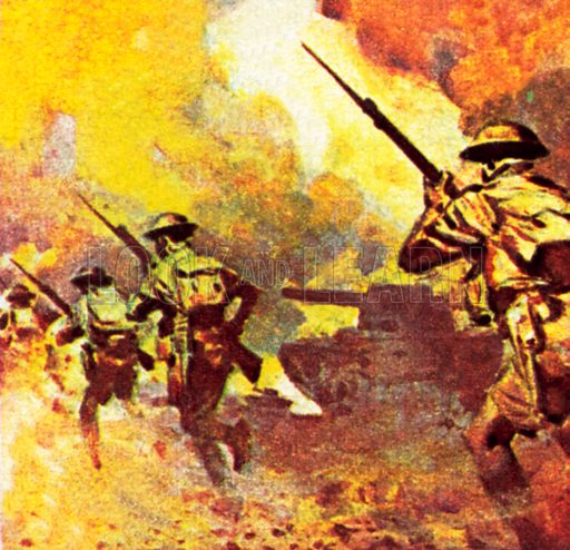 General Montgommery's troops in North Africa.  NB: Scan of small illustration.