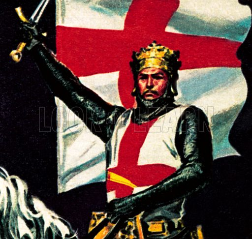 Richard the Lionheart. NB: Scan of small illustration.
