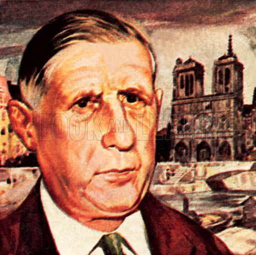 General de Gaulle. NB: Scan of small illustration.