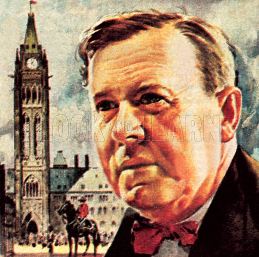 Lester Pearson. NB: Scan of small illustration.