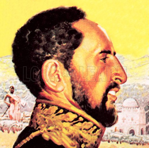 Haile Selassie. NB: Scan of small illustration.