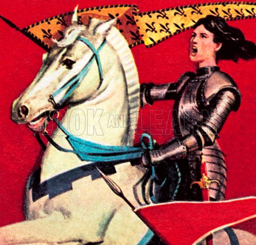 Joan of Arc. NB: Scan of small illustration.