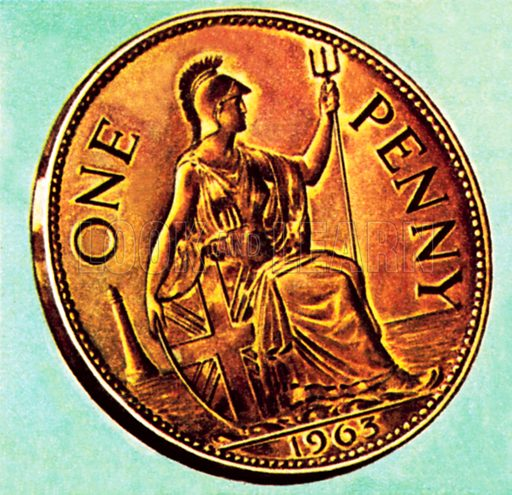 Penny piece. NB: Scan of small illustration.