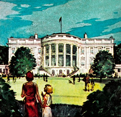 The White House. NB: Scan of small illustration.