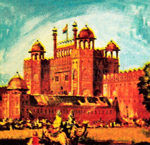 Red Fort, Delhi. NB: Scan of small illustration.