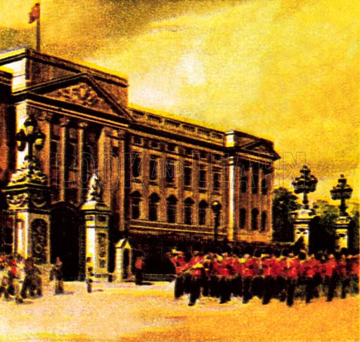 Buckingham Palace, London. NB: Scan of small illustration.