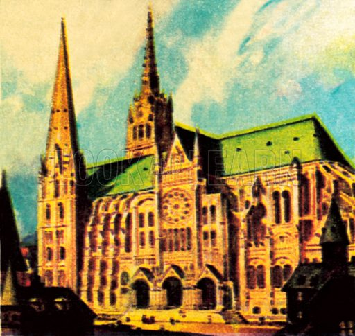 Chartres Cathedral. NB: Scan of small illustration.