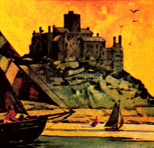 St Michael's Mount, Cornwall. NB: Scan of small illustration.