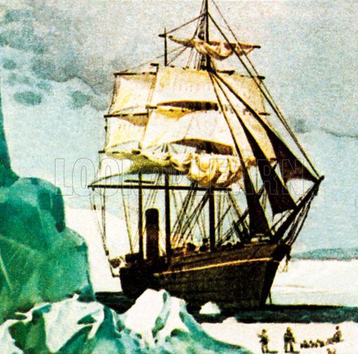 Scott's Terra Nova. NB: Scan of small illustration.
